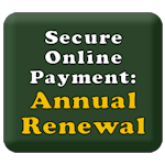 Secure online payment of dues by credit card